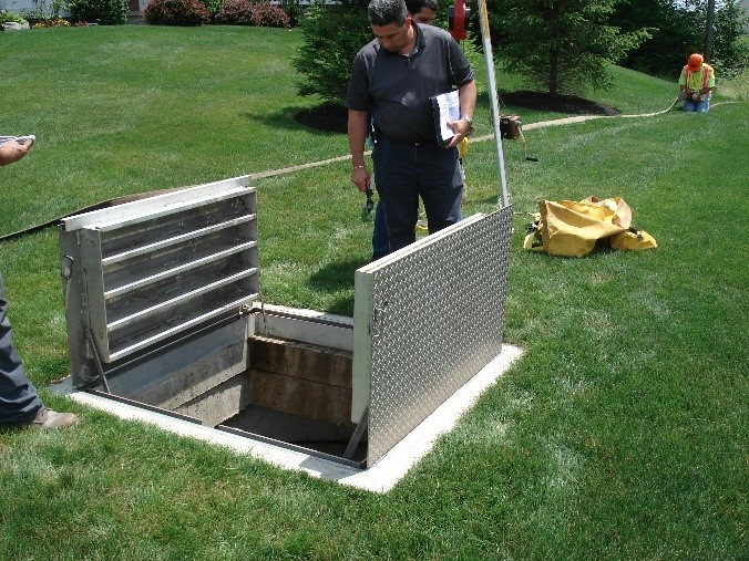 Hatch used on a stormwater filter system