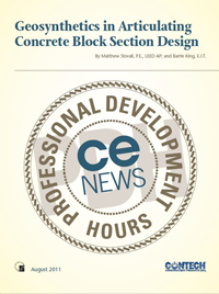 Geosynthetics in Articulating Concrete Block Section Design