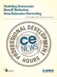 Modeling Stormwater Runoff Reduction from Rainwater Harvesting