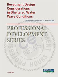 Revetment Design Considerations in Sheltered Water Wave Conditions