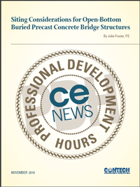 Siting Considerations for Open-Bottom
