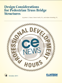 Design Considerations for Pedestrian Truss Bridge Structures