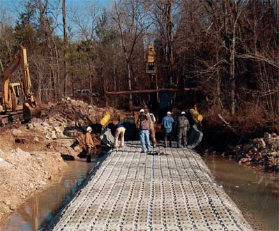 Low Water Crossing Design Amp Use Of Articulated Concrete Block