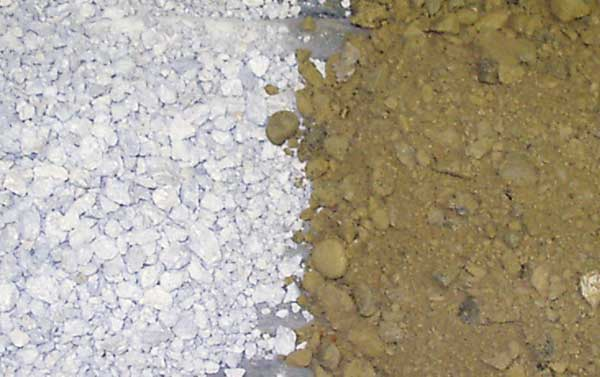 quarry aggregate vs natural soil